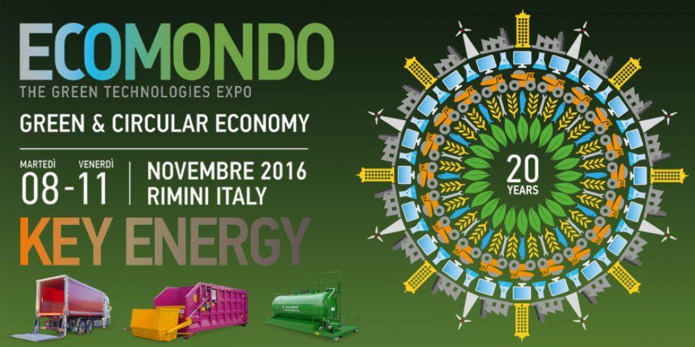 Fiera Ecomondo 8-11 Novembre 2016 Rimini