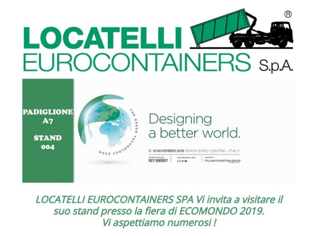 Ecomondo fair, 5-8 November 2019, Rimini