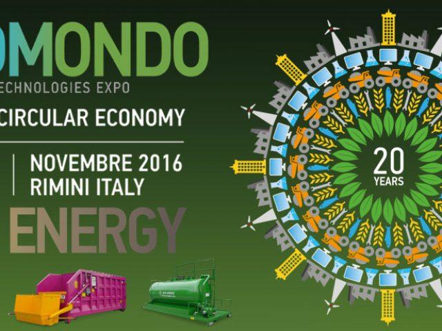 Exposition commerciale Ecomondo 8-11 Novembre 2016 Rimini